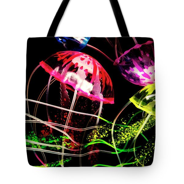 Jelly Fish Trails Tote Bag