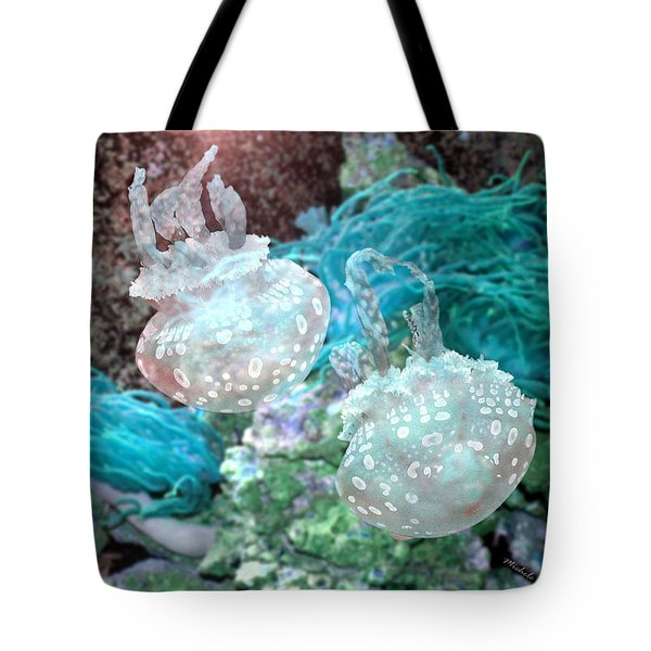 Jellyfish In Aquarium Tote Bag
