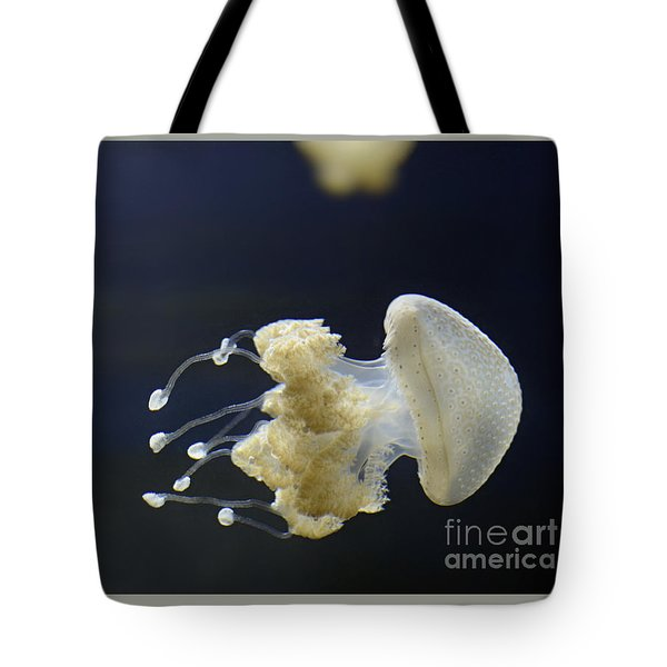 Tote Bag featuring the digital art Jellyfish by Leo Symon