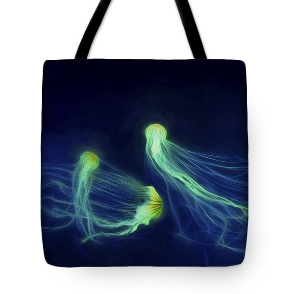 Jellyfish Tango Tote Bag by Steven Richardson
