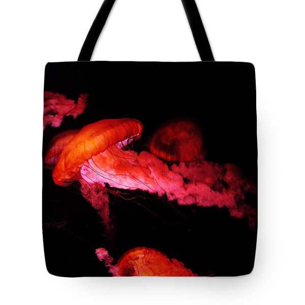Tote Bag featuring the photograph Jellyfish by W And F Kreations