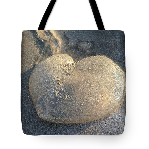 Jellyfish With A Big Heart Tote Bag by Shane Bechler