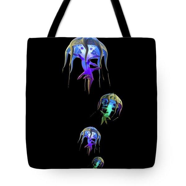 Jellys In Space Tote Bag