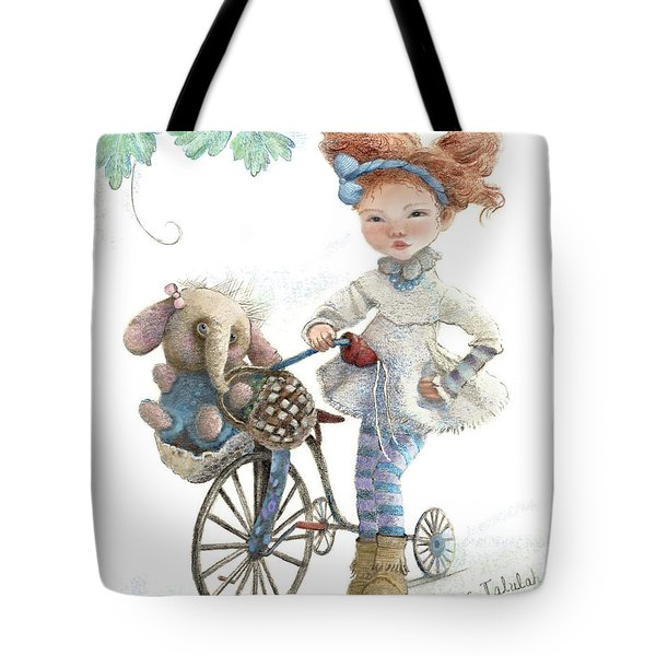 Jemima Starling And Her Elephant Friend Tote Bag