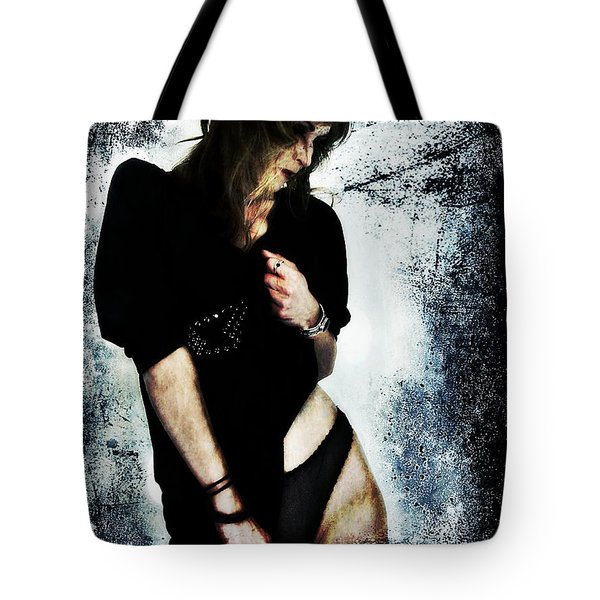 Tote Bag featuring the digital art Jenn 1 by Mark Baranowski