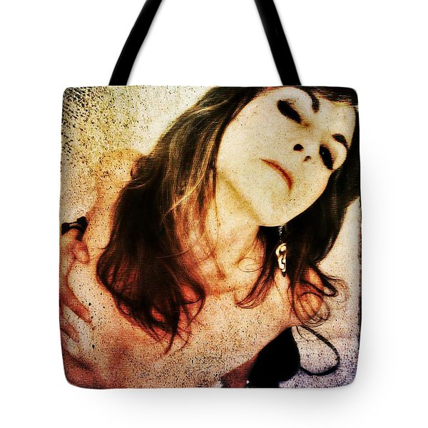 Tote Bag featuring the digital art Jenn 2 by Mark Baranowski