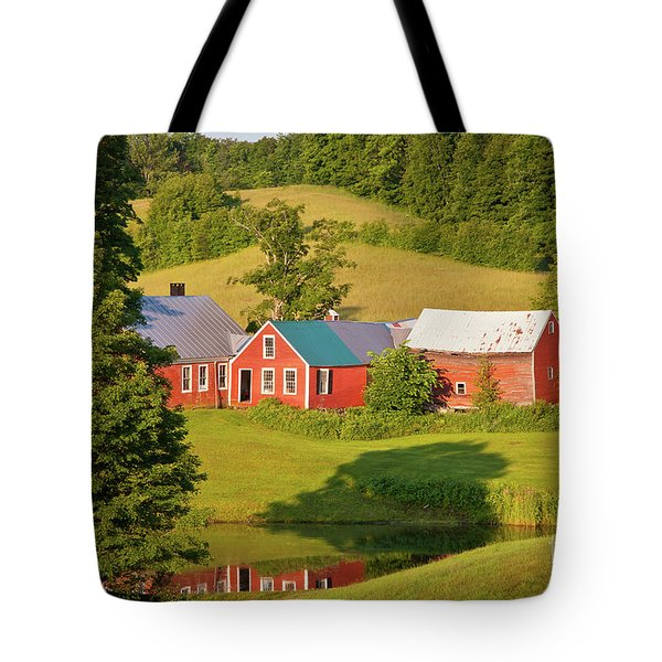 Tote Bag featuring the photograph Jenne Farm Reflection by Susan Cole Kelly