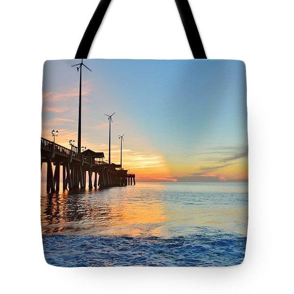 Jennette's Pier Aug. 16 Tote Bag