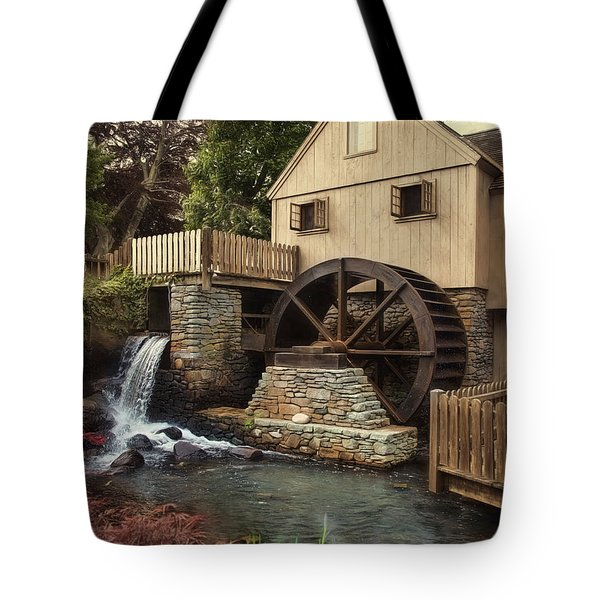 Tote Bag featuring the photograph Jenney Grist Mill by Robin-Lee Vieira