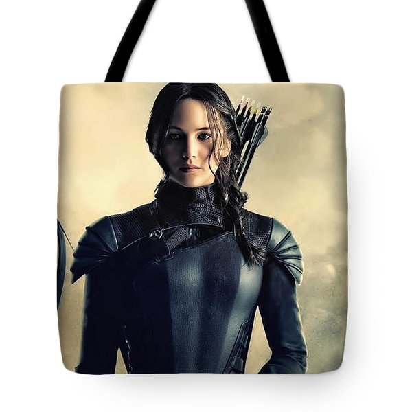 Jennifer Lawrence The Hunger Games  2012 Publicity Photo Tote Bag