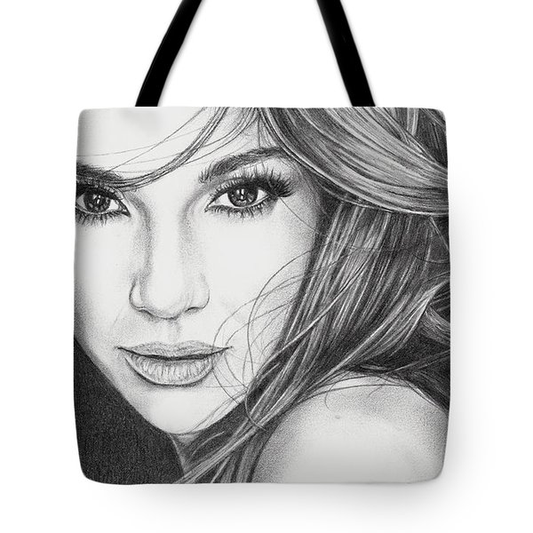 Jennifer Lopez Tote Bag