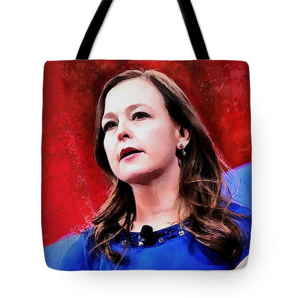 Tote Bag featuring the painting Jenny Beth Martin by Kai Saarto