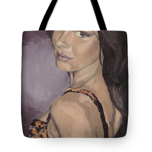 Jenny In Black Tote Bag