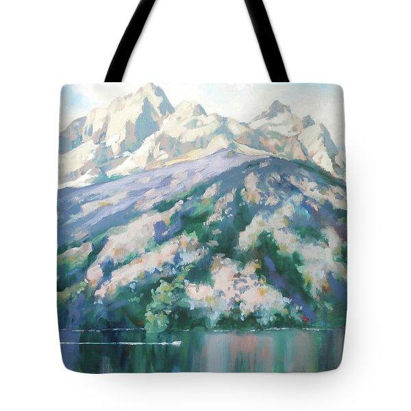 Jenny Lake Tote Bag by Carol Strickland