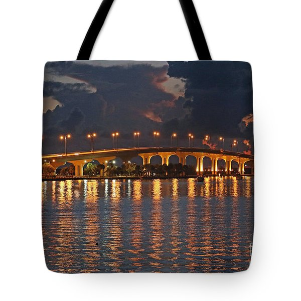 Tote Bag featuring the photograph Jensen Beach Causeway by Tom Claud