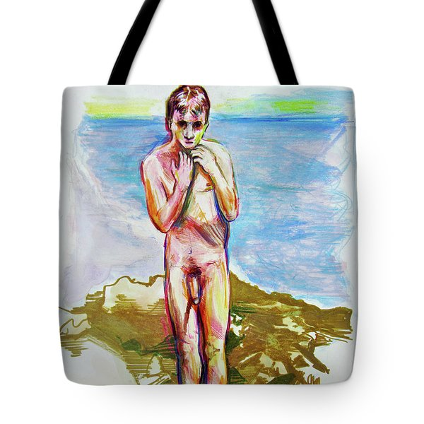 Jeremy At The Beach Tote Bag