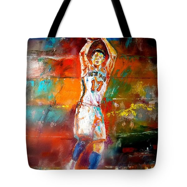 Jeremy Lin New York Knicks Tote Bag by Leland Castro