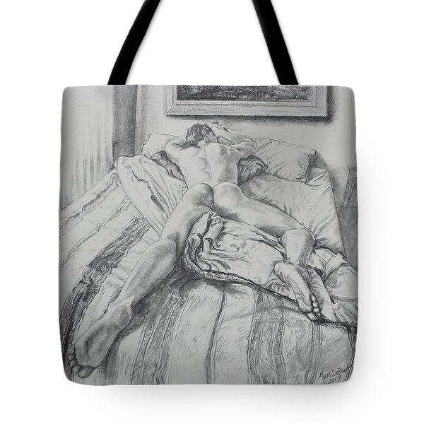 Jeremy On The Bed Tote Bag