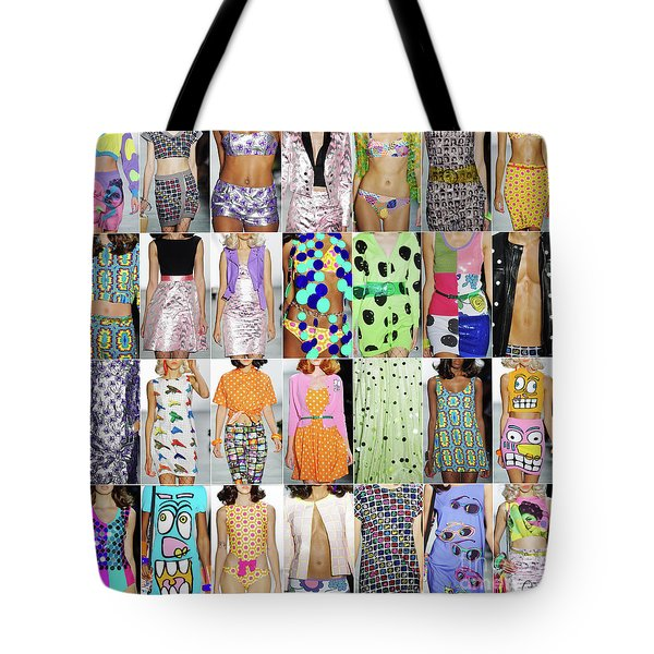 Tote Bag featuring the photograph Jeremy Scott Nyfw 2015 by Gregg Cestaro