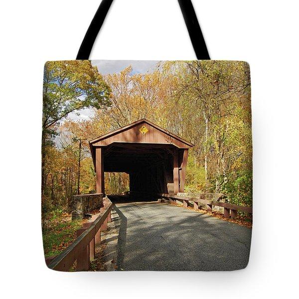 Jericho Covered Bridge Tote Bag