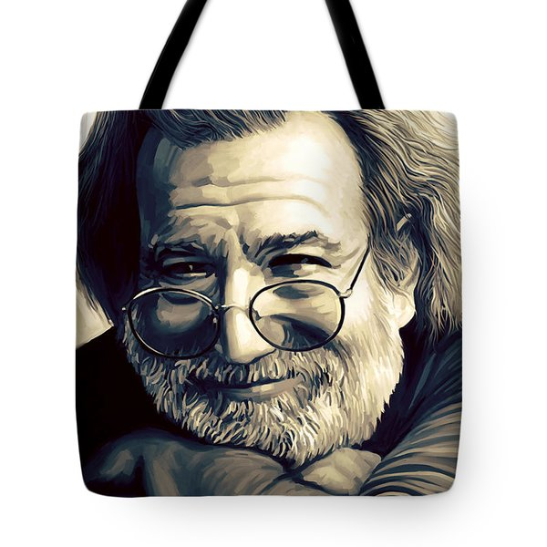 Jerry Garcia Artwork  Tote Bag