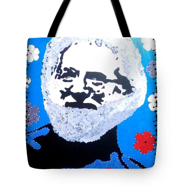 Jerry Garcia In Full View Tote Bag by Robert Margetts