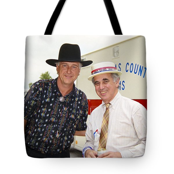 Jerry Jeff Walker And S. David Freeman Tote Bag by Marilyn Hunt