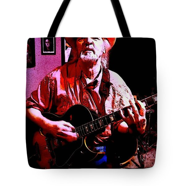 Tote Bag featuring the photograph Jerry Miller - Moby Grape Man 1 by Sadie Reneau