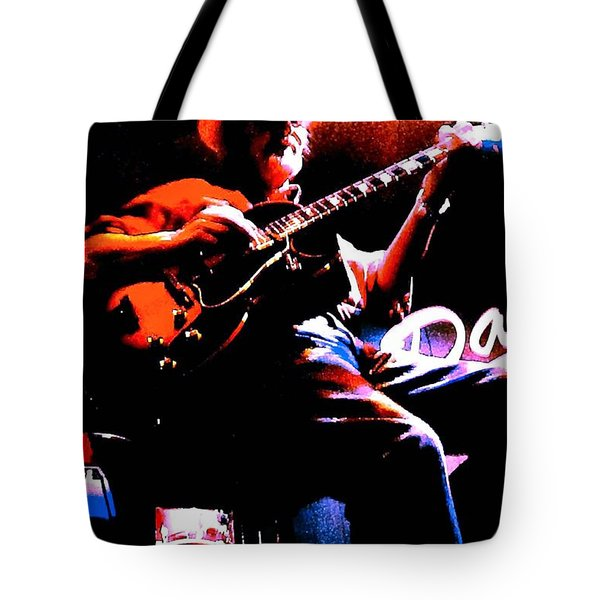 Tote Bag featuring the photograph Jerry Miller - Moby Grape Man 2 by Sadie Reneau