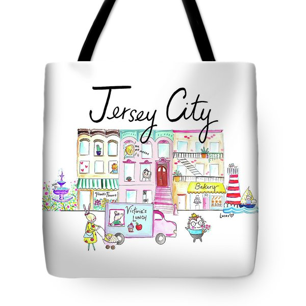 Jersey City Tote Bag by Ashley Lucas