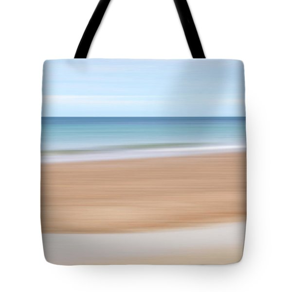 Jersey Coast Seascape Abstract Tote Bag by Gill Billington