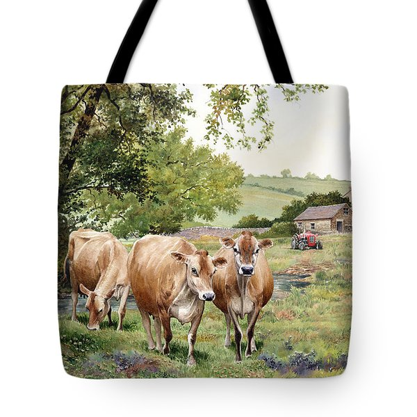 Jersey Cows Tote Bag by Anthony Forster