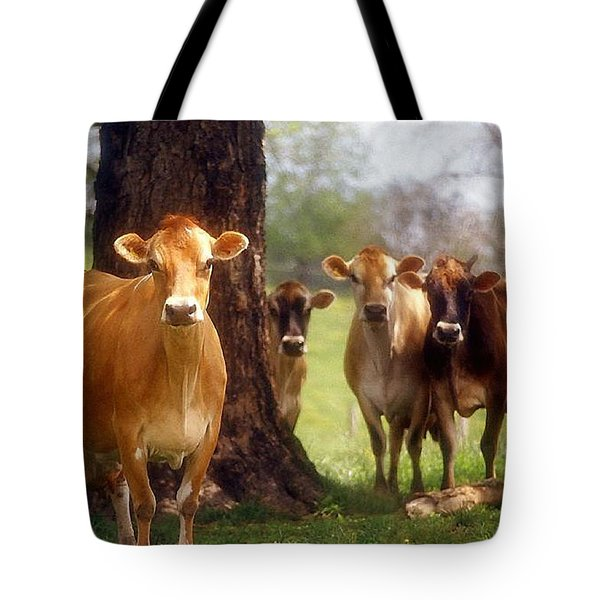 Jersey Lookers Tote Bag by Jan Amiss Photography