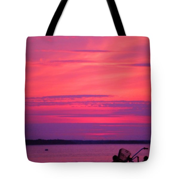 Tote Bag featuring the photograph Jersey Sunset by Susan Carella