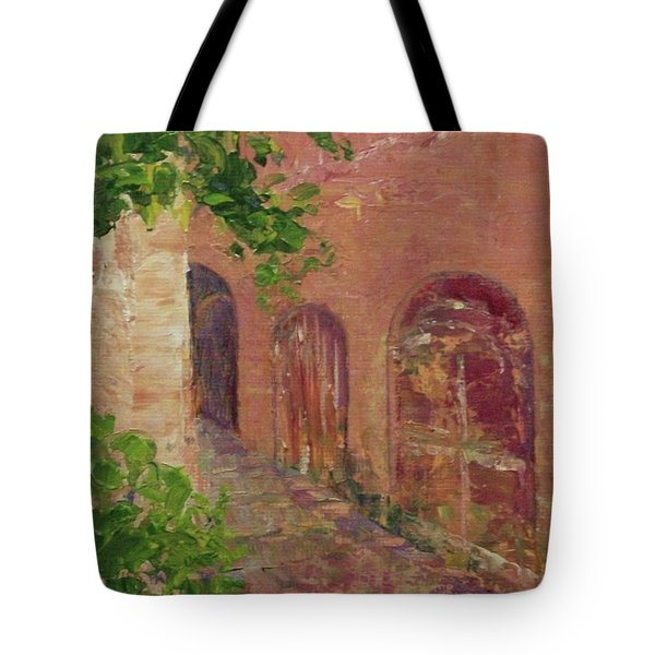 Jerusalem Alleyway Tote Bag