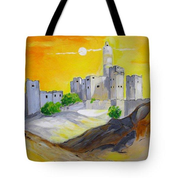 Jerusalem City Of Gold Tote Bag