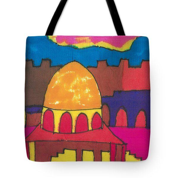 Tote Bag featuring the painting Jerusalem by Don Koester