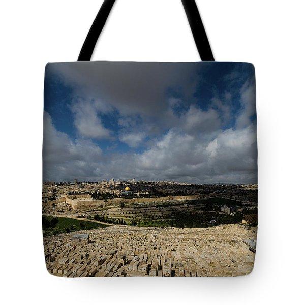 Jerusalem From Mount Of Olives Tote Bag