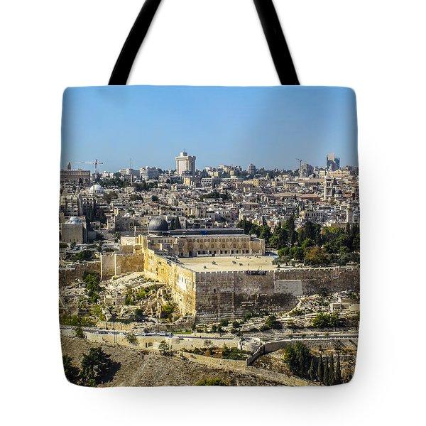 Jerusalem Of Gold Tote Bag