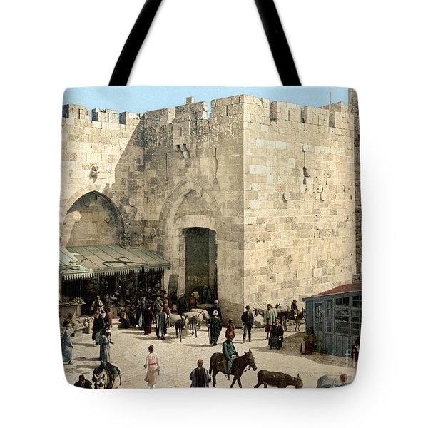 Jerusalem: Jaffa Gate Tote Bag by Granger