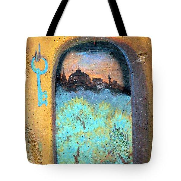 Jerusalem Key Tote Bag