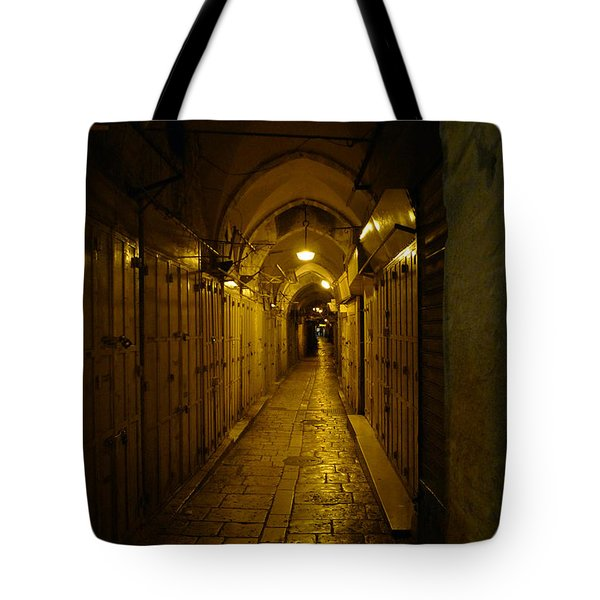 Tote Bag featuring the photograph Jerusalem Of Copper 1 by Dubi Roman