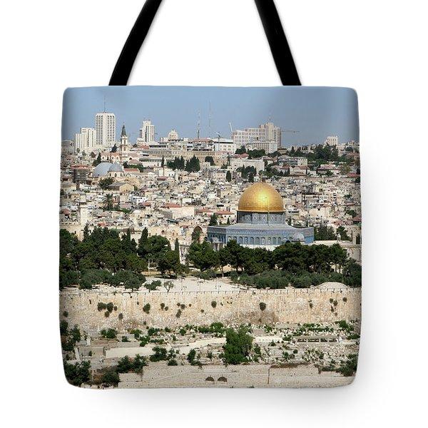 Jerusalem Skyline Tote Bag
