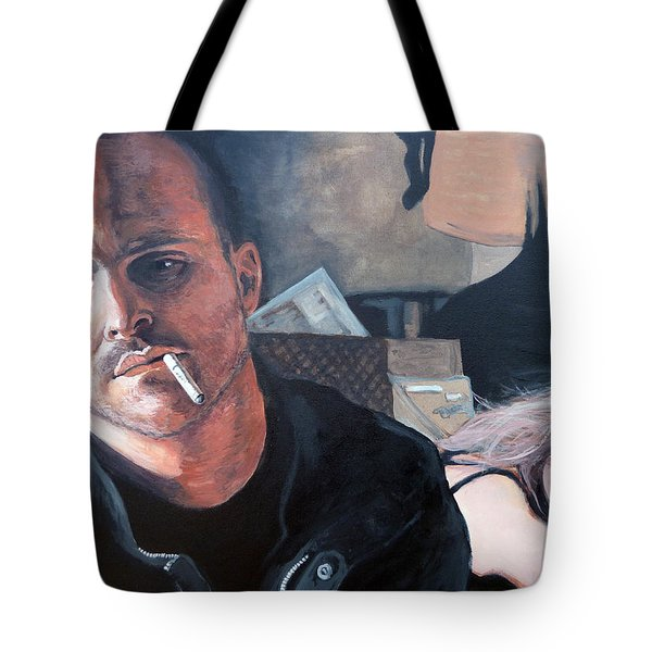 Tote Bag featuring the painting Jesse's Girl by Tom Roderick