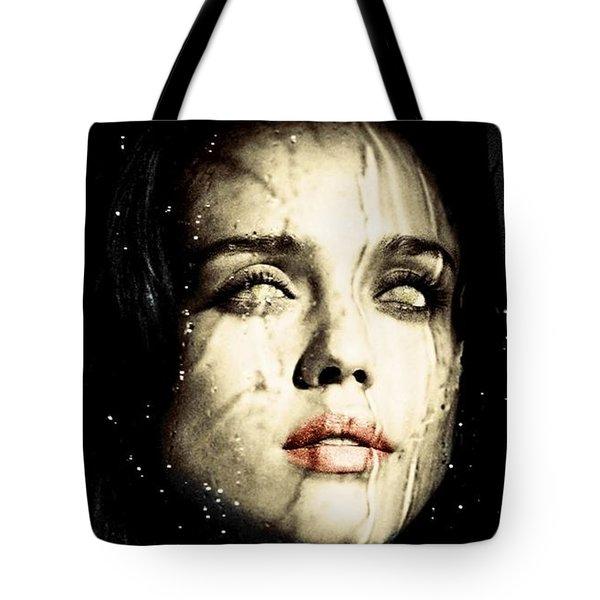 Jessica Alba Dark Horror Tote Bag