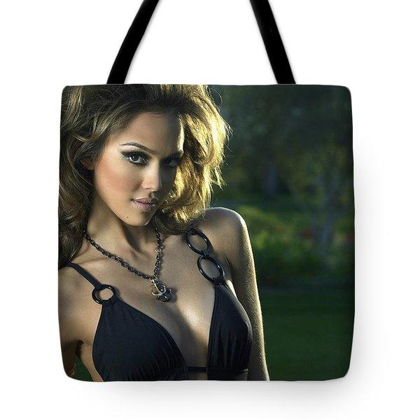 Jessica Alba Sexy Swimsuit Tote Bag