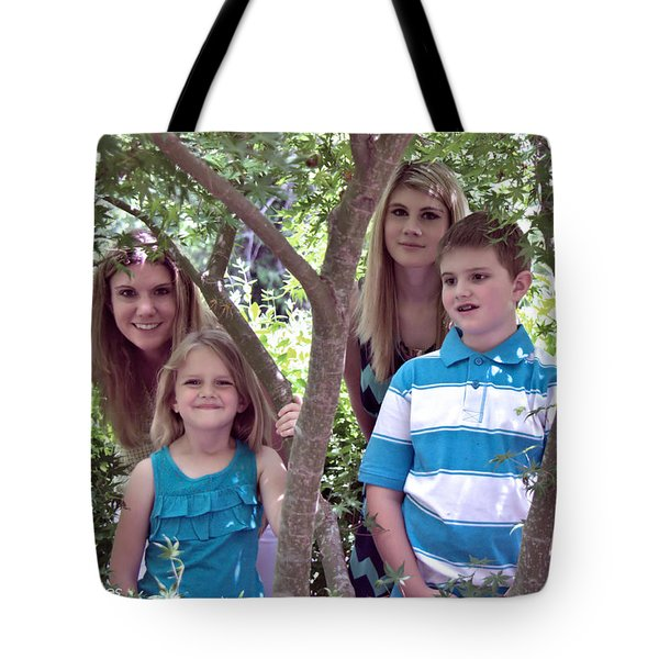 Jessica And Family Tote Bag