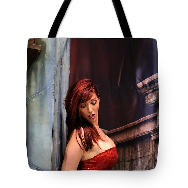 Tote Bag featuring the photograph Jessica Rabbit In The Year 2015 by Viktor Savchenko