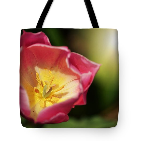Tote Bag featuring the mixed media Jessica by Trish Tritz