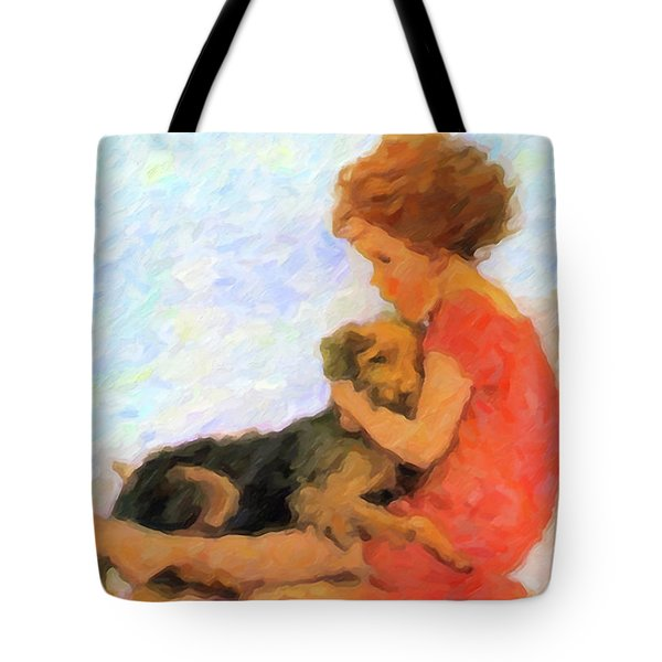 Jessie And Me Tote Bag by Chris Armytage